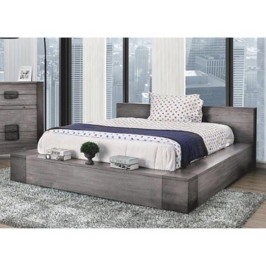 Shop Furniture Of America Fist Contemporary Grey Wood Low with regard to Low Profile Bunk Beds