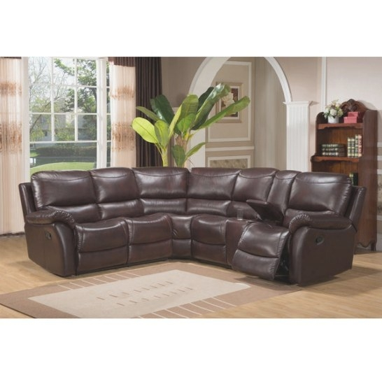 Shop Hillrose Top Grain Dark Burgundy Leather Reclining with regard to Top Grain Leather Sectional