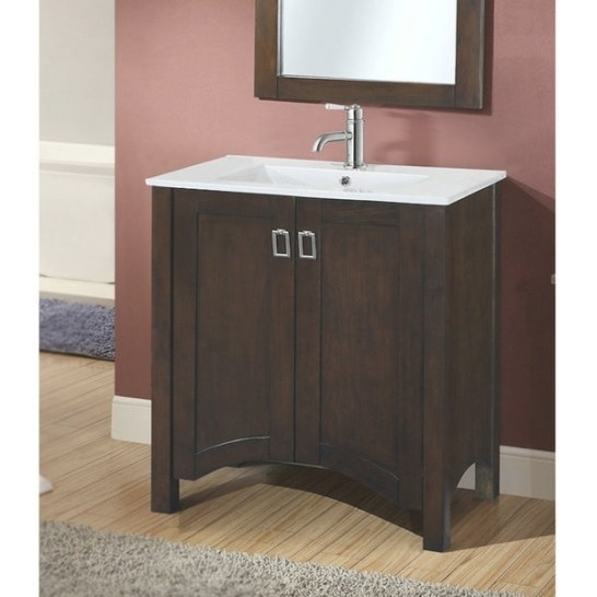 "Shop Infurniture Contemporary-Style Brown Wood 30-Inch pertaining to 30"" Bathroom Vanity"