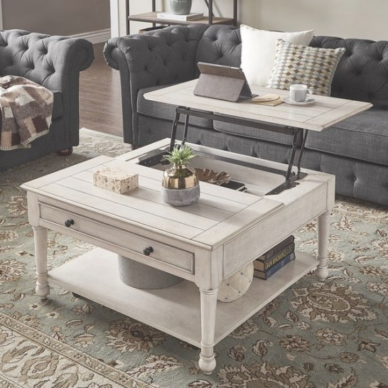 Shop Jude Lift Top Antique White Finish Cocktail Table for Lift Top Coffee Tables