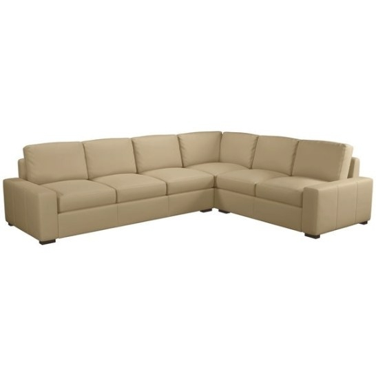 Shop Made To Order Monza 100% Top Grain Leather Sectional regarding Top Grain Leather Sectional