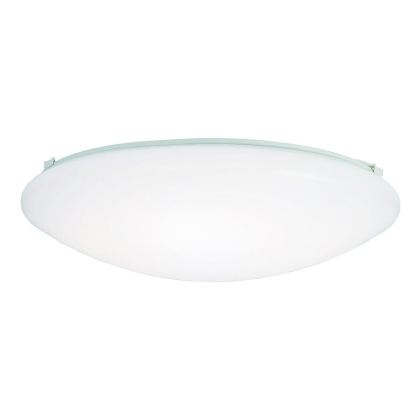 Shop Metalux Fmled 16-In W White Led Ceiling Flush Mount with regard to Led Flush Mount Ceiling Light