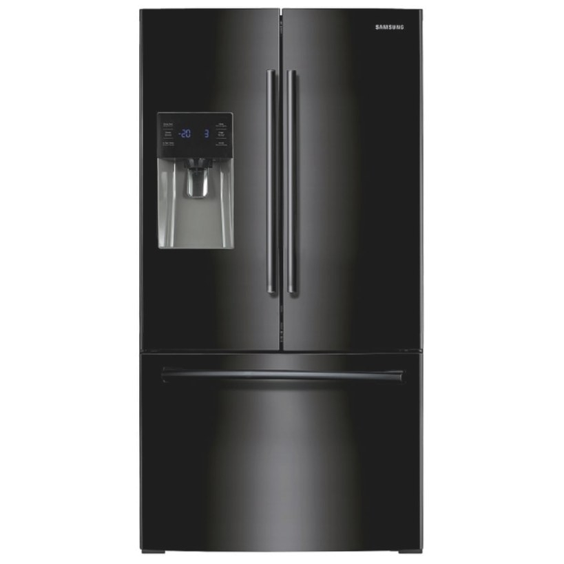 Shop Samsung 24.6-Cu Ft French Door Refrigerator With within Samsung Refrigerator Ice Maker