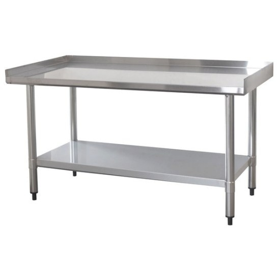 Shop Upturned Edge Stainless Steel Work Table 24 X 48 inside Stainless Steel Table Top