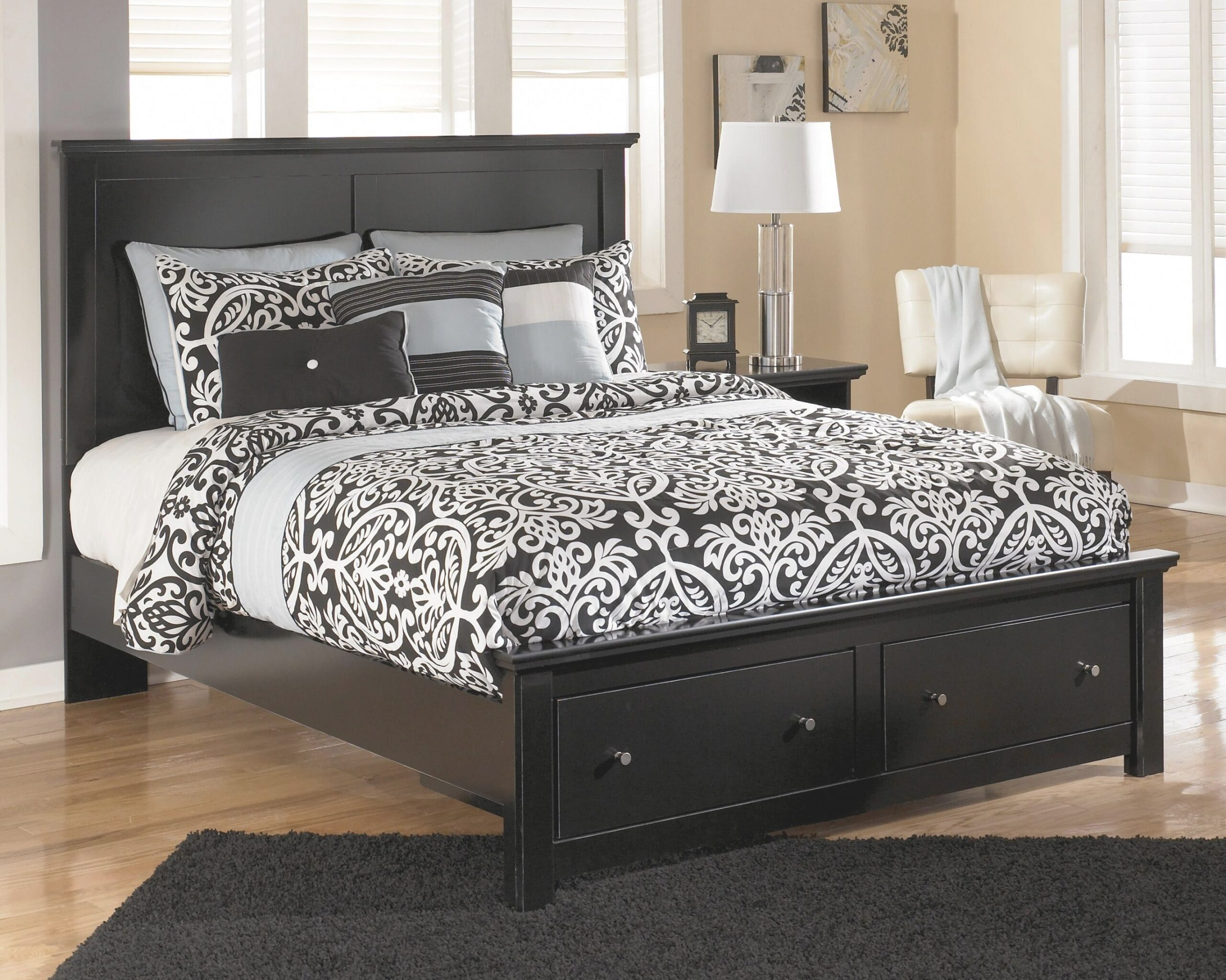 Signature Designashley Maribel Queen Storage Bed With pertaining to Queen Platform Bed With Storage And Headboard