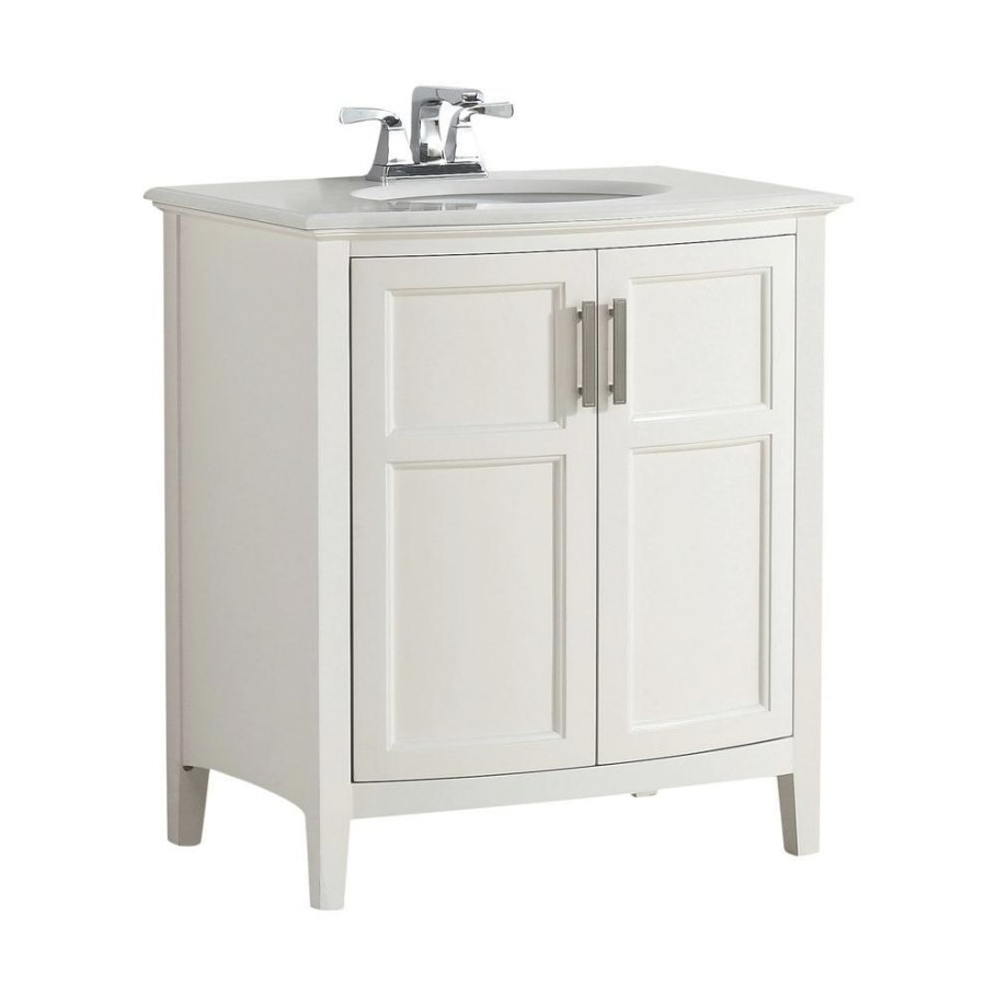 "Simpli Home Winston Rounded Front 30 In. Bath Vanity In inside 30"" Bathroom Vanity"