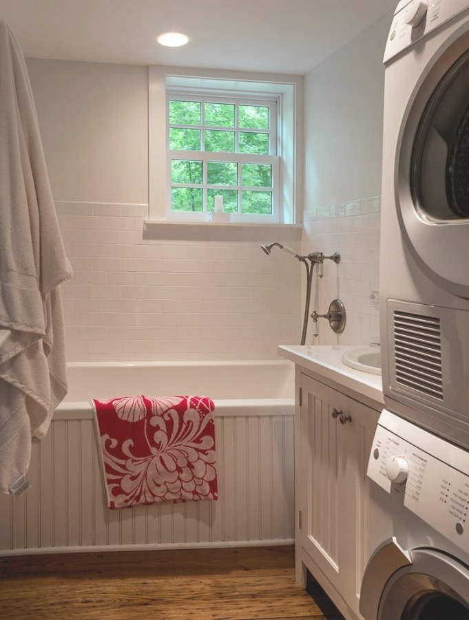Small Bathroom Laundry Room Combo Bathroom Contemporary pertaining to Washer Dryer Combo In Bathroom