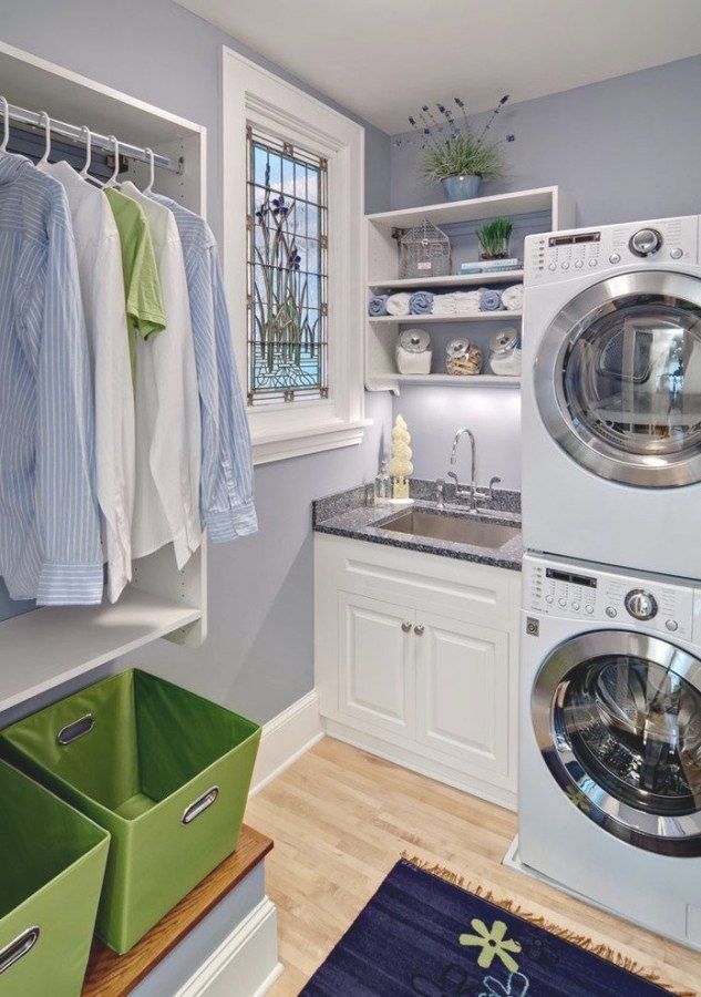 Small Bathroom Laundry Room Combo Laundry Room Traditional in Washer Dryer Combo In Bathroom