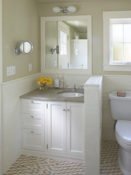 Small Cottage Bathroom | Houzz within 3/4 Bathroom Layout