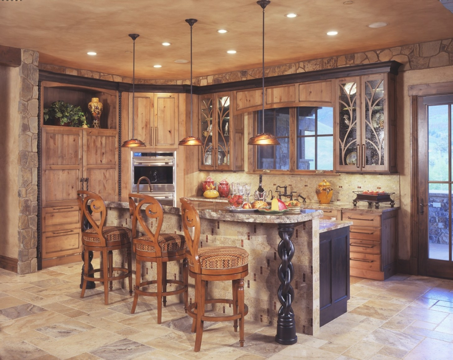 Small Office Cabinets, Rustic Kitchen Island Designs in Rustic Kitchen Ideas For Small Kitchens
