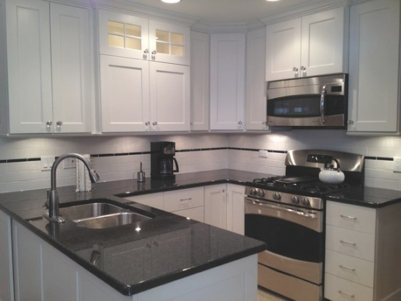 Small U-Shaped White Painted Custom Kitchen In Skokie, Il for Small U Shaped Kitchen