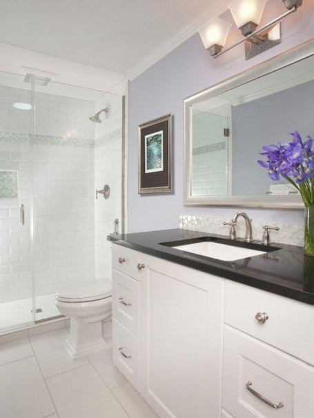 Small White Bathroom   Houzz for Small White Tiles For Bathrooms