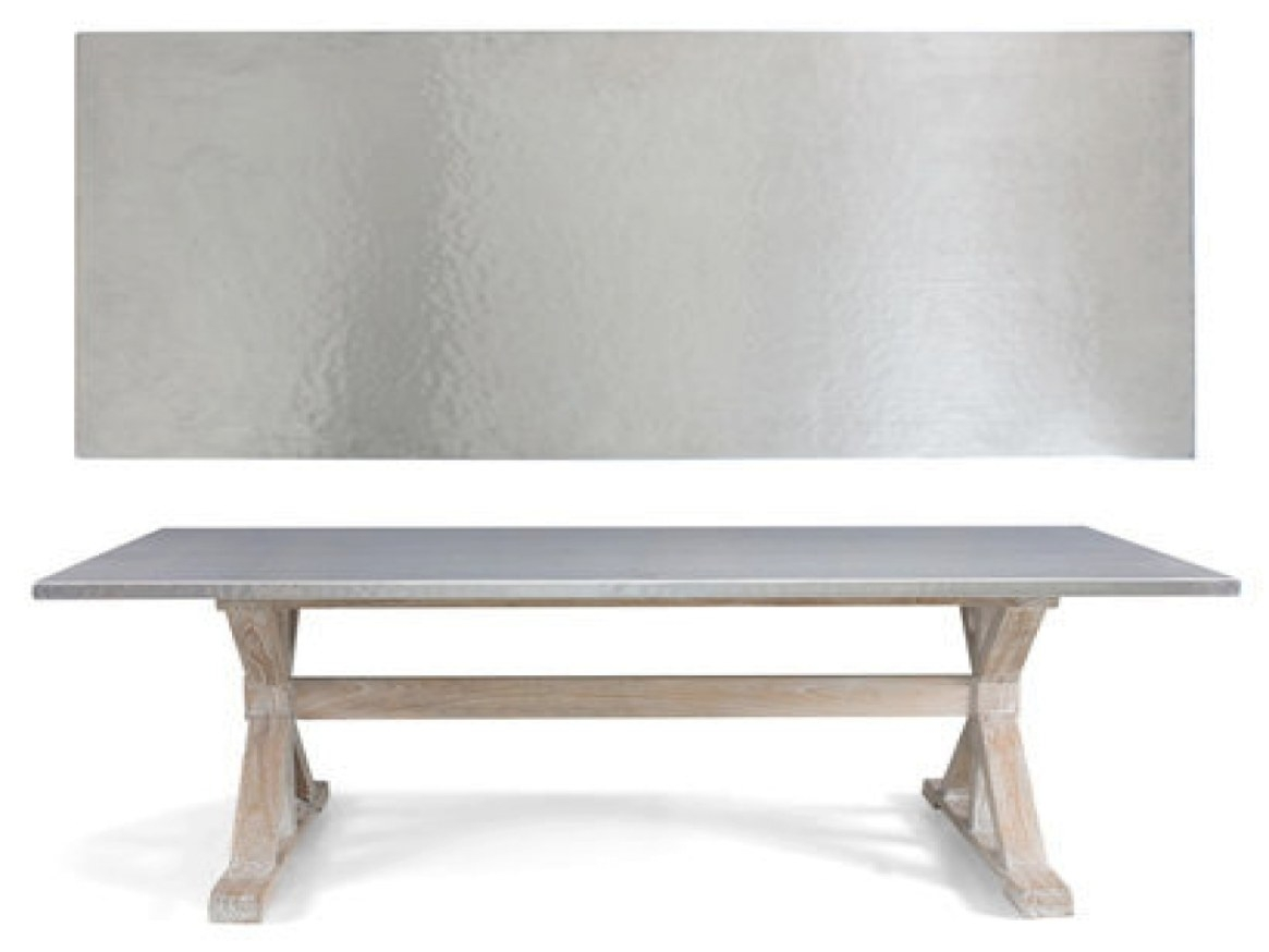 Stainless Steel Table Top, Metal Top Dining Room Table with Stainless Steel Table Top