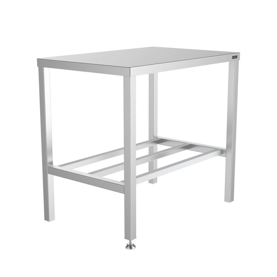 Stainless Steel Top Tables - Aluminium Underframe Technik with Stainless Steel Table Top