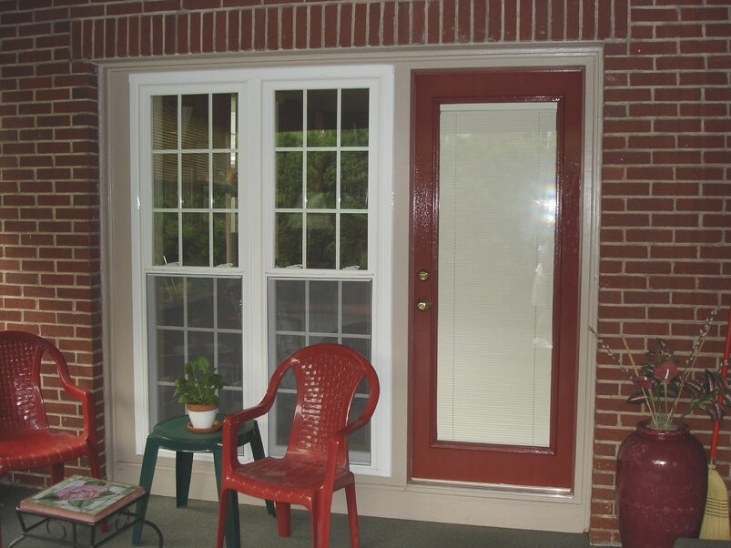 Steel Entry Doors With Blinds Between The Glass Panes for Windows With Blinds Inside