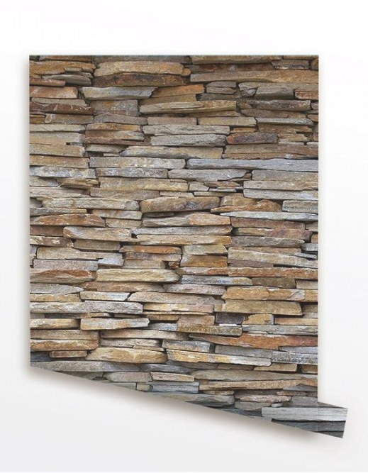 Stone Panel Seamless Wall Paper Removable Peel And throughout Peel And Stick Wall Panels