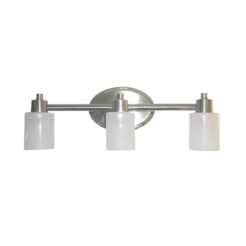 Style Selections 3-Light Style Selection Brushed Nickel pertaining to Mixing Chrome And Brushed Nickel Finishes In Bathroom