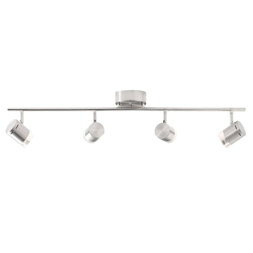 Style Selections Leyden 4-Light 29.76-In Brushed Nickel pertaining to Led Track Lighting Kits