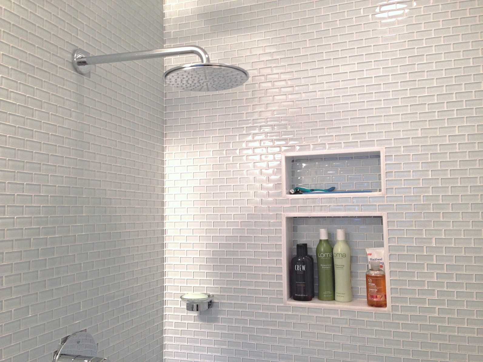 Subway Tile Sizes For Wet Areas – Homesfeed throughout Glass Subway Tile Bathroom