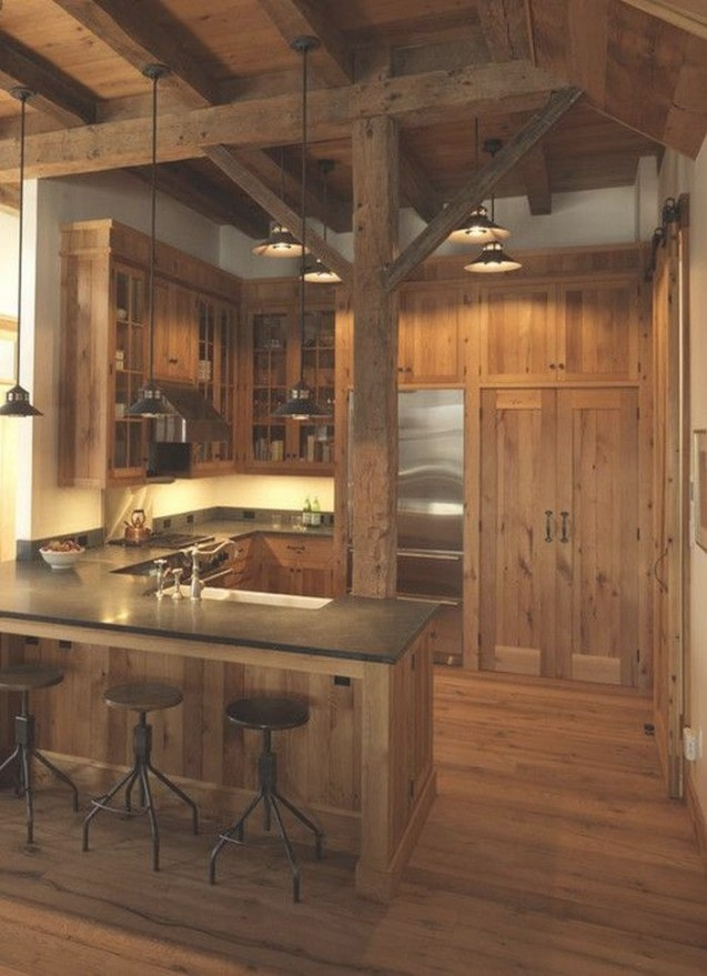 Sweet Rustic Cabin Kitchen | Rustic Cabin Kitchens, Rustic throughout Rustic Kitchen Ideas For Small Kitchens