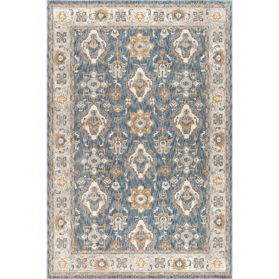 Tayse Rugs Fairview Navy 5 Ft. 3 In. X 7 Ft. 3 In. Area for 5 X 7 Rugs