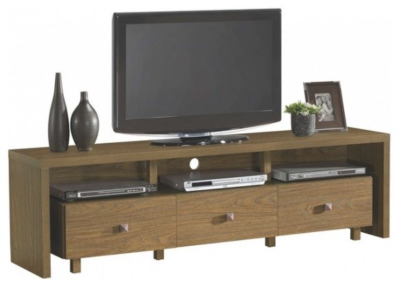Techni Mobili 70 Inch Tv Stand W/ 3 Drawer In Light Walnut for 70 Inch Tv Stand