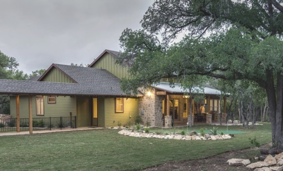 Texas Hill Country Man Space - Traditional - Exterior pertaining to Texas Hill Country Homes