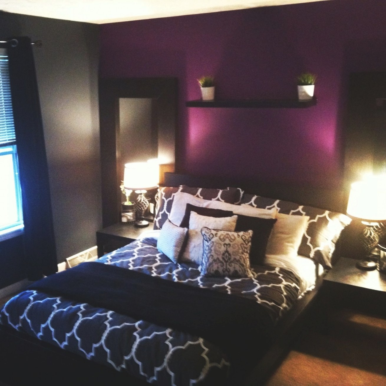 The 25+ Best Purple Accent Walls Ideas On Pinterest throughout Purple Accent Wall Bedroom