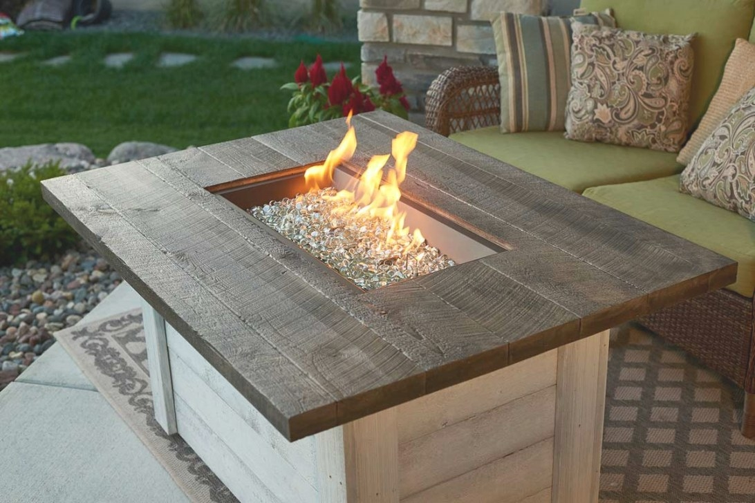 The Outdoor Greatroom Company Alcott Rectangular Gas Fire within Propane Fire Pit Table