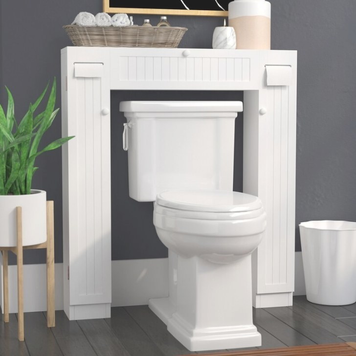 """The Twillery Co. Eleanor Free Standing 34"""" W X 38.5"""" H inside Over The Toilet Storage"""