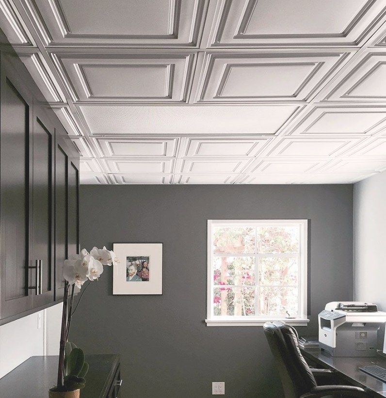 This Office Drop Ceiling Is Anything But Basic With Our intended for Drop Ceilings In Homes