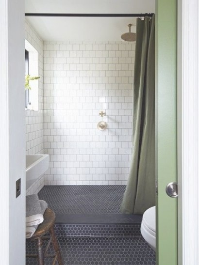 Tile | A Creole Cottage with regard to Black Tile Floor Bathroom