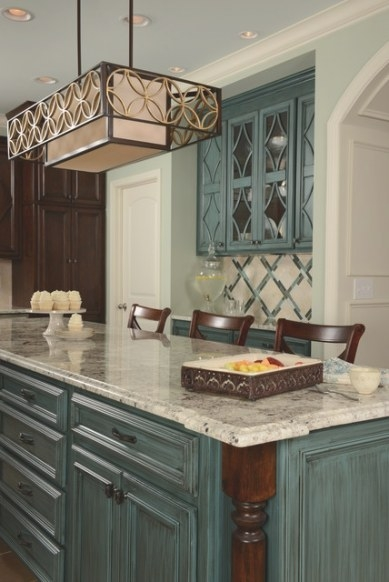 Timeless Teal within Teal And Gray Kitchen