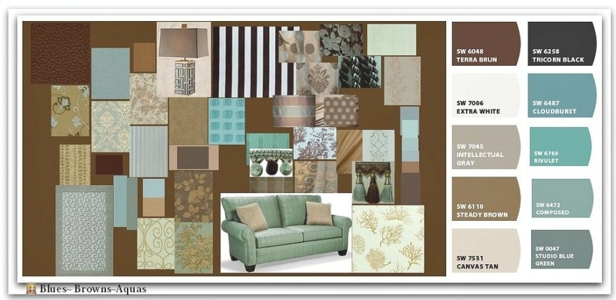 Torquise And Browns Color Scheme | Ve Got The Blues…And inside Blue And Brown Color Palette