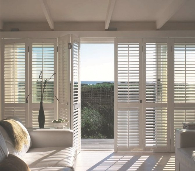 Trojan Timbers Internal Bifold Plantation Shutters with regard to Windows With Blinds Inside