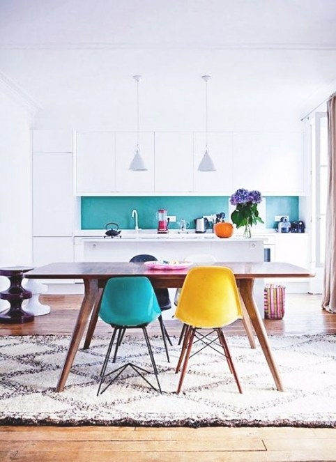 Turquoise + Yellow Inspiration | Dans Le Lakehouse regarding Yellow And Turquoise Kitchen