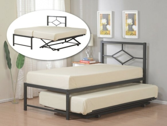 Twin Size Metal Hirise Day Bed (Daybed) Frame With throughout Daybed With Pop Up Trundle
