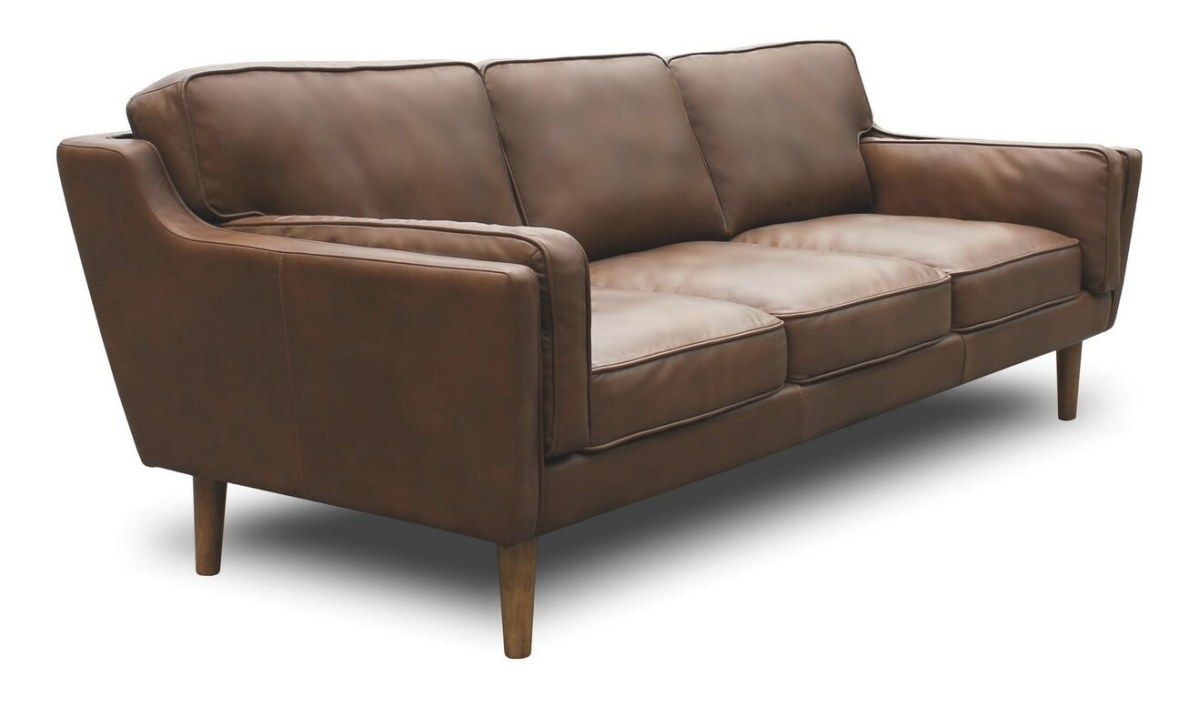 Union Rustic Kaufman Mid Century Modern Leather Sofa with regard to Small Mid Century Modern Sectional