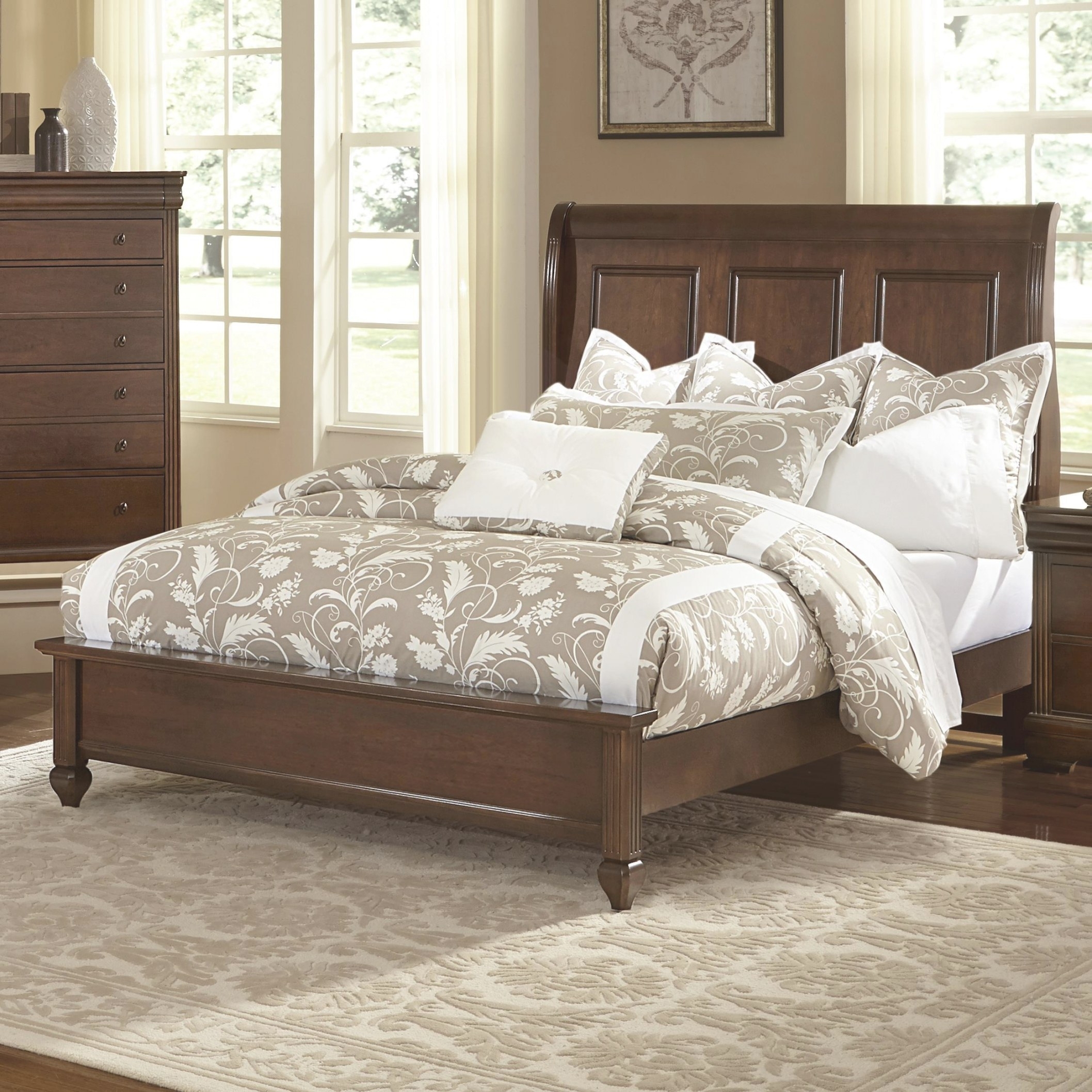 Vaughan Bassett French Market Queen Bed W/ Sleigh pertaining to Low Profile Bunk Beds