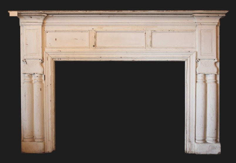 Very Large 8' Antique Fireplace Mantel, 19Th Century for Fireplace Mantels For Sale