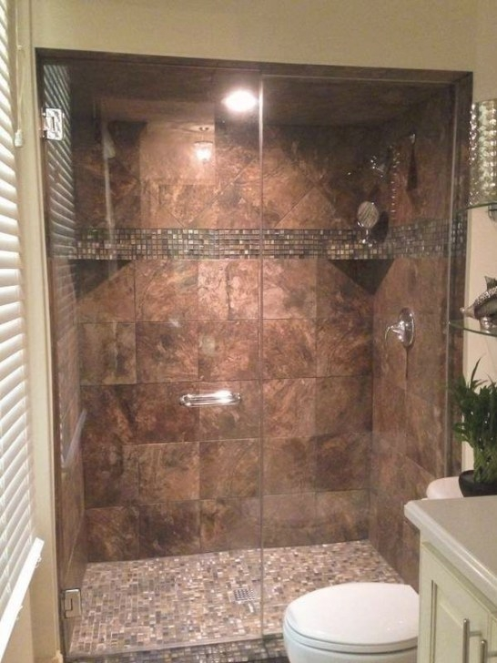 Walk-In Tile Shower Replaces Tub Shower I Like That The with Walk In Shower For Small Bathroom