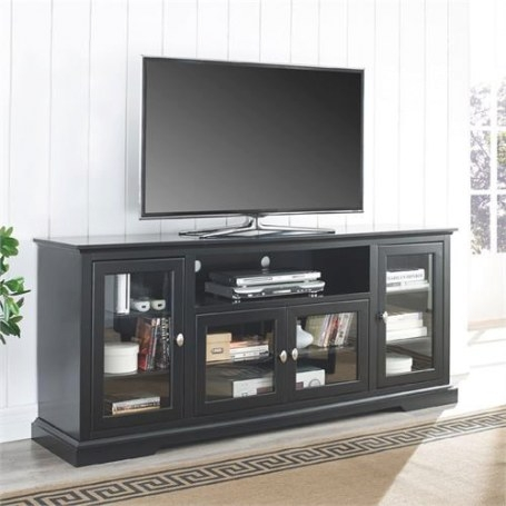Walker Edison 70 Inch Highboy Tv Stand Black W70C32Bl with 70 Inch Tv Stand