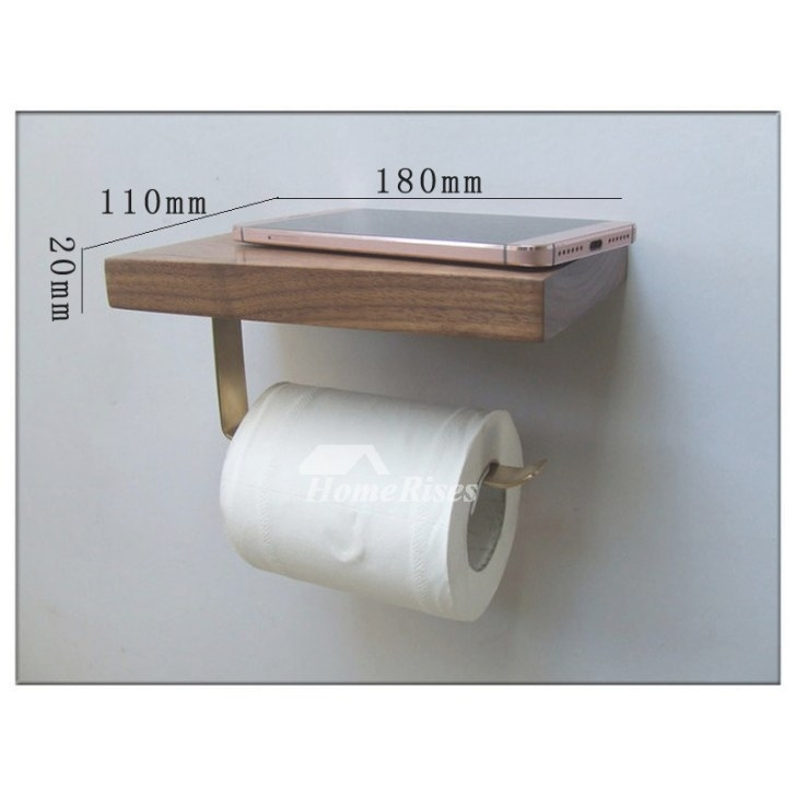 Wall Mount Toilet Paper Holder Wooden Natural With Shelf throughout Toilet Paper Holder With Shelf