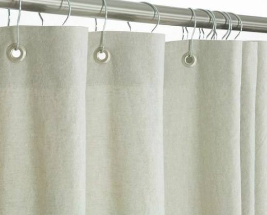 Washed Linen Shower Curtain Beige 72 Wide X 72 78 84 in 84 Inch Shower Curtain
