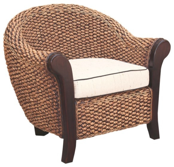Water Hyacinth Soldano Club Chair - Tropical - Armchairs within Armchairs And Accent Chairs
