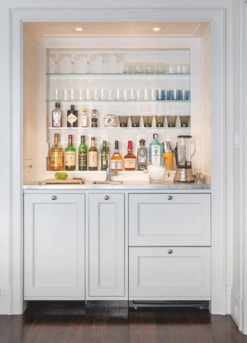 Wet Bar Design - Transitional - Dining Room - Sutro Architects intended for Wet Bars For Homes