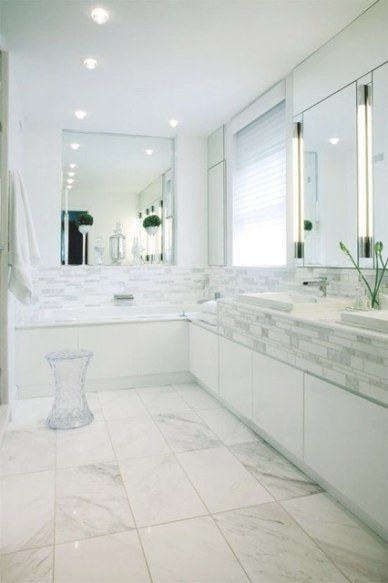 White Bathroom throughout Images Of Modern Bathrooms