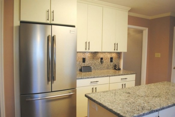 """White """"Rohe"""" Cabinets, Stainless Appliances - Kitchen with regard to White And Stainless Steel Kitchen"""