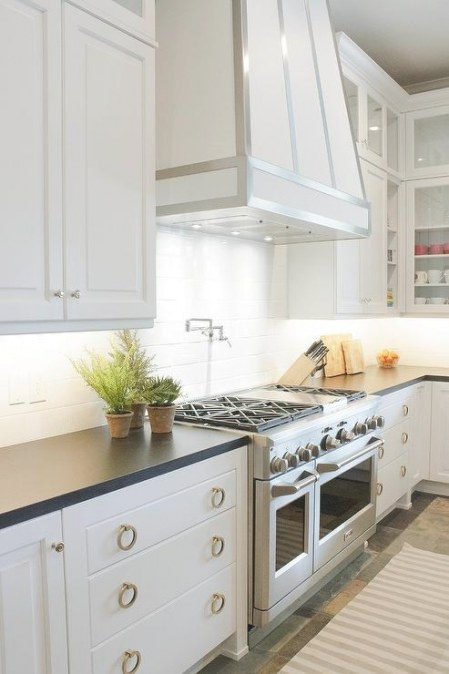 White Upper Kitchen Cabinets With Taupe Lower Kitchen throughout White And Stainless Steel Kitchen