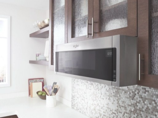 """Wml55011Hs Whirlpool Low Profile 30"""" 1.1 Cu. Ft. Over-The regarding Low Profile Over The Range Microwave"""
